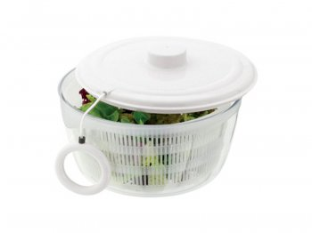 White salad spinner