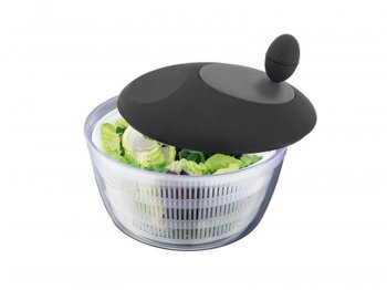 Salad spinner w/ black lid
