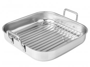 Tray w/ handles with griddle