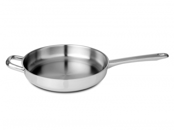 Frying pan with helper handle