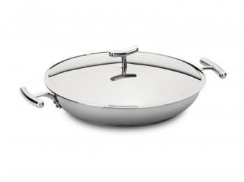 Conical frypan with handles & lid