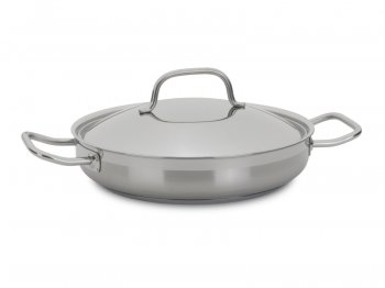 Paella pan with lid