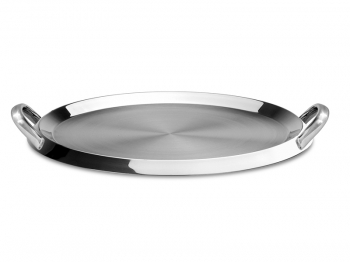 Round griddle with handles