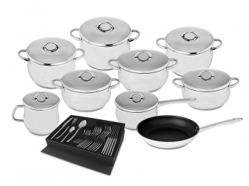 9 pieces set + 24 pcs cutlery set