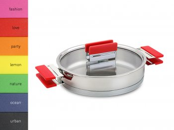 RAINBOW LOVE RED - Paella pan with lid