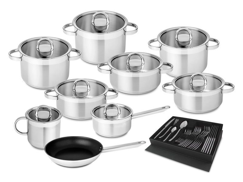 9 PCE SET+ 24 PCE CUTLERY SET