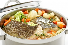 Cod in the pot for the family